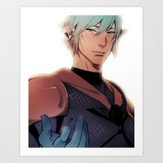 A Smile Better Suits A Hero Art Print