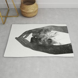 The kissing touch. Rug