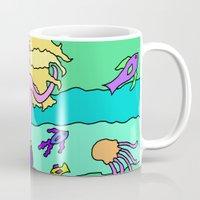 mermaid Mugs featuring Mermaid by Linda Tomei
