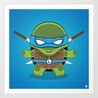 leonardo Art Prints featuring Leonardo by LAckas