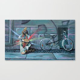 Busker in Berlin Canvas Print