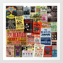 Vintage Rock Concert Posters Art Print