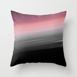 Pink to Gray Smooth Ombre Throw Pillow