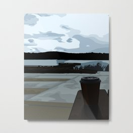 Coffee by the Lake Metal Print