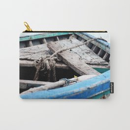Rustic Wooden Turquoise Boat Carry-All Pouch