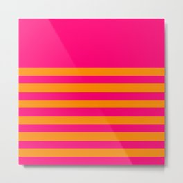 Hot Pink and Tangerine Orange Metal Print