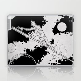 Sky rider of the spaceways Laptop & iPad Skin