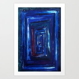 Blue Road Art Print