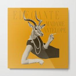 Elegante Madame Antelope Metal Print