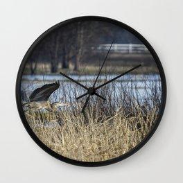 Great Blue Heron at Fern Ridge Wall Clock
