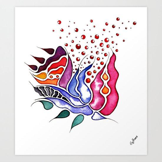 Thistle Art Print