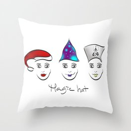 Magic hat of Christmas Throw Pillow