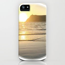 Port Erin - circle/line iPhone Case