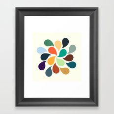 Colorful Water Drops Framed Art Print