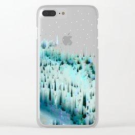 White Landscape / Snow Clear iPhone Case