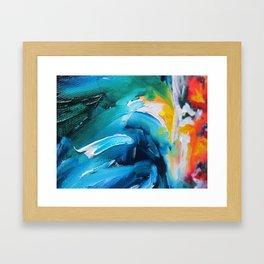 Oasis on Fire Framed Art Print