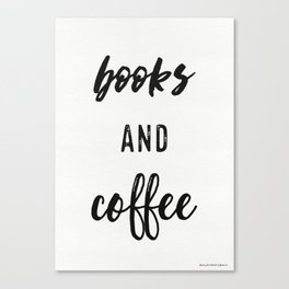books and coffee x1 Canvas Print