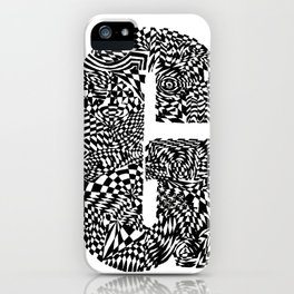 Alphabet Letter G Impact Bold Abstract Pattern (ink drawing) iPhone Case