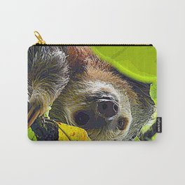 AnimalPaint_Sloth_20171201_by_JAMColors Carry-All Pouch
