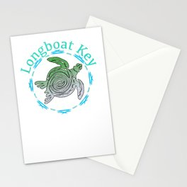 Longboat Key T-Shirt Vintage Tribal Turtle Gift T-Shirt Stationery Cards