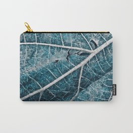 Frozen Winter Leaf Carry-All Pouch