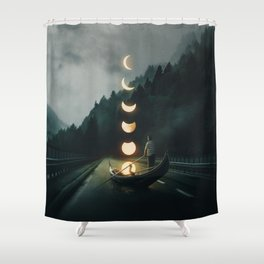 Moon Ride Shower Curtain