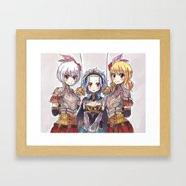 Her Knights Framed Art Print