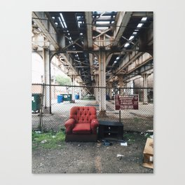 Unauthorized Armchair Canvas Print