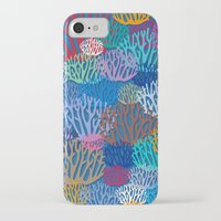 coral iPhone & iPod Cases featuring Coral by Helene Michau