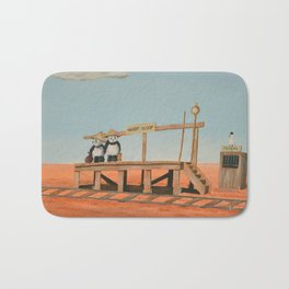 Outback Train Station Bath Mat