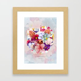 Always Flowers Framed Art Print