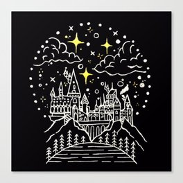 Hogwarts Castle Illustration Canvas Print