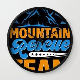 Bergwacht Mountain Rescue Edelweiss Snow Wall Clock