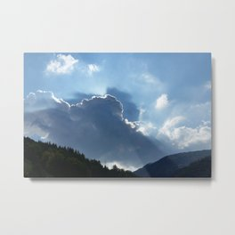 rays and clouds Metal Print