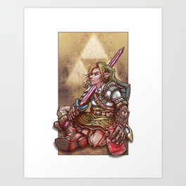 Soul of a Hero - Green Tunic Art Print