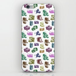 Vintage Multicolor Cameras iPhone Skin