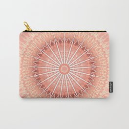 Coral Geometric Mandala Carry-All Pouch