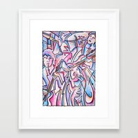 rock and roll Framed Art Prints featuring Rock & Roll by Rick Borstelman