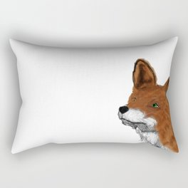 Watercolor animals fox painting Rectangular Pillow