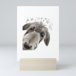 Curious Deerhound Dog Mini Art Print