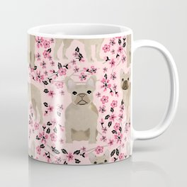 French Bulldog fawn coat cherry blossom florals dog pattern floral dog breeds Coffee Mug