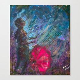 Rain in my Face Canvas Print