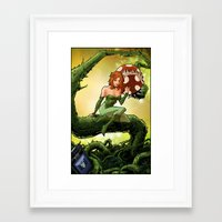 poison ivy Framed Art Prints featuring Poison Ivy by Andrew Sebastian Kwan