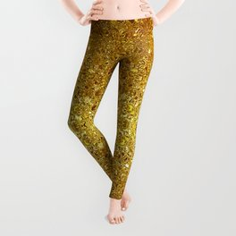Deep gold glass mosaic Leggings