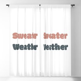 Sweater Weather Blackout Curtain