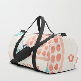 Pomegranate Pastel Seamless Pattern Fruits Flower Petals Duffle Bag