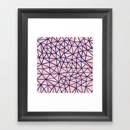 Broken Blush Framed Art Print