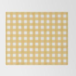 Harvest Yellow Gingham Throw Blanket
