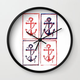 Abundant Anchors Wall Clock