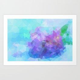 Blue and Violet 040914 Art Print